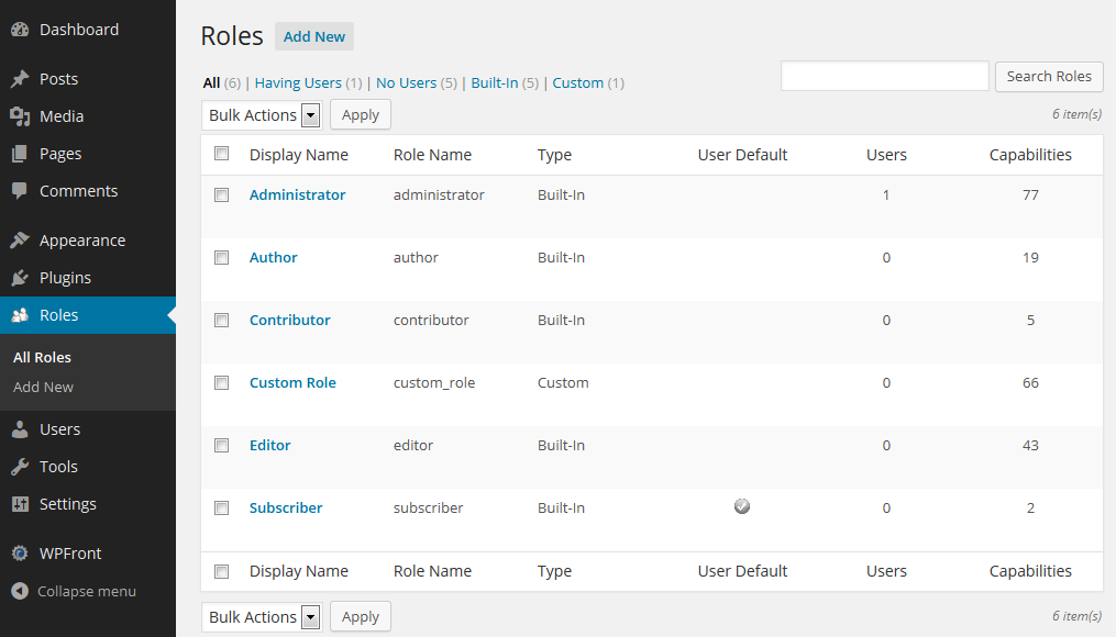 wpfront-user-role-editor-wordpress-plugin