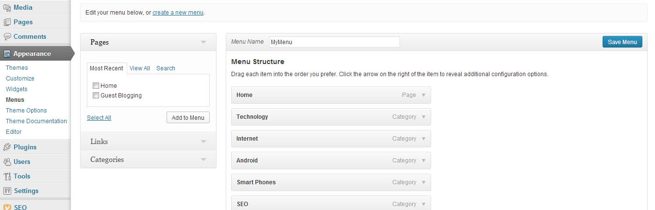 wordpress-menu-dashboard