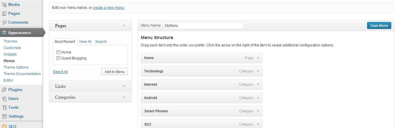 wordpress-menu-dashboard