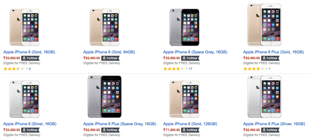 buy iPhone 6 and iPhone 6s in India