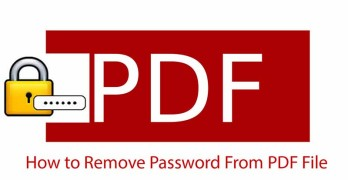 PDF Password Remover Tools For Windows